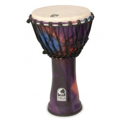 TOCA SFDJ-10WP DJEMBE WOODSTOCK PURPLE