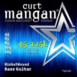 CURT MANGAN 45-125 Nickel Bass 5-Str Extra Long