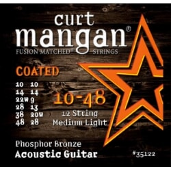 CURT MANGAN 10-48 12-String Phos Med-Light COATED