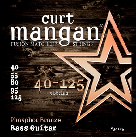 CURT MANGAN 40-125 Phosphor Bass 5-Str