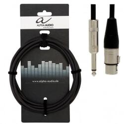 ALPHA AUDIO kabel mikrofonowy XLR - Jack 9 m