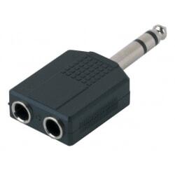 ALPHA AUDIO adapter / przejściówka 2 x  Jack Stereo - Jack Stereo