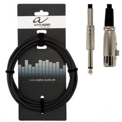 ALPHA AUDIO kabel mikrofonowy XLR - Jack 3 m