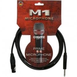 KLOTZ M1FS1B0300 kabel mikrofonowy XLR/Jack 3 m