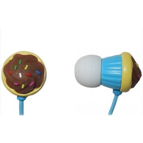 MAXELL CUPCAKE EARPHONE BLUE słuchawki douszne niebieskie