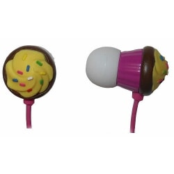 MAXELL CUPCAKE EARPHONE PINK słuchawki douszne różowe