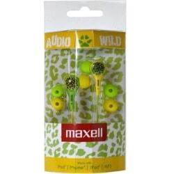MAXELL AUDIO WILD GREEN/YELLOW słuchawki