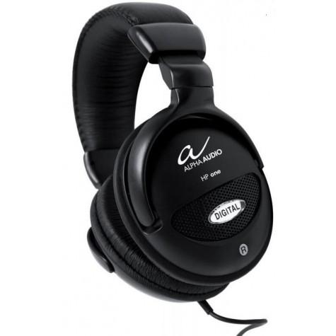 ALPHA AUDIO HP ONE czarne słuchawki półotwarte