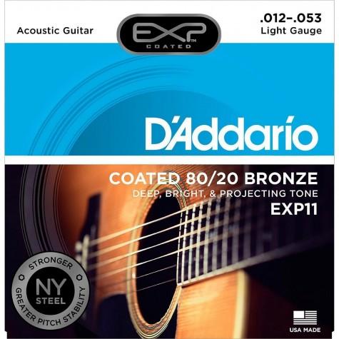 D'ADDARIO EXP11 NY STRUNY DO GITARY AKUSTYCZNEJ