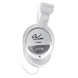 ALPHA AUDIO HP ONE białe słuchawki półotwarte