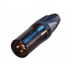 NEUTRIK NC3MXX-B czarne złącze kablowe XLR męski