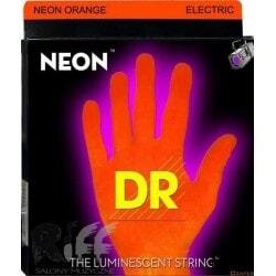 struny do gitary elektrycznej DR NOE-10 NEON ORANGE ELECTRIC