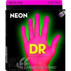 struny do gitary elektrycznej DR NPE-10 NEON PINK ELECTRIC