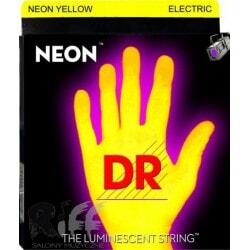 struny do gitary elektrycznej DR NYE-10 NEON YELLOW ELECTRIC