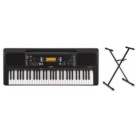YAMAHA PSR-E363 keyboard do nauki zestaw ze statywem