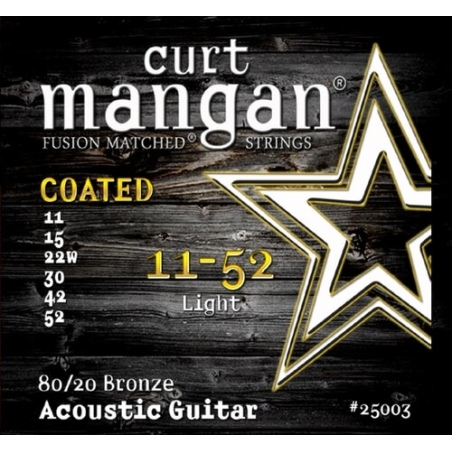 CURT MANGAN 11-52 80/20 BRONZE LIGHT COATED 25003