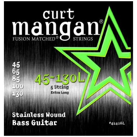 CURT MANGAN 45-130 EXTRA LONG SSTAINLESS STEEL 5-STRING BASS 42408L