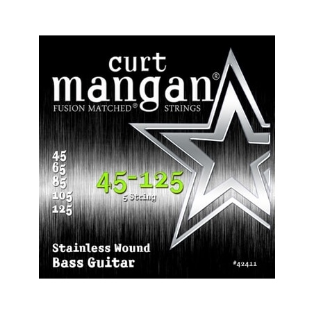 CURT MANGAN 45-125 STAINLESS BASS 5-STRING 42411