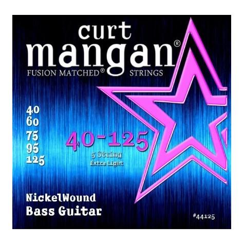 CURT MANGAN 40-125 NICKEL WOUND LIGHT 5-STRING 44125