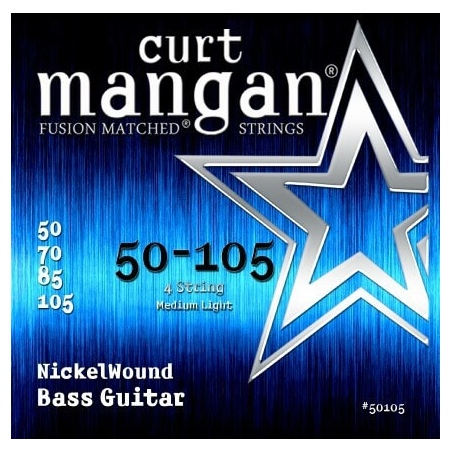 CURT MANGAN 50-105 NICKEL WOUND BASS 50105