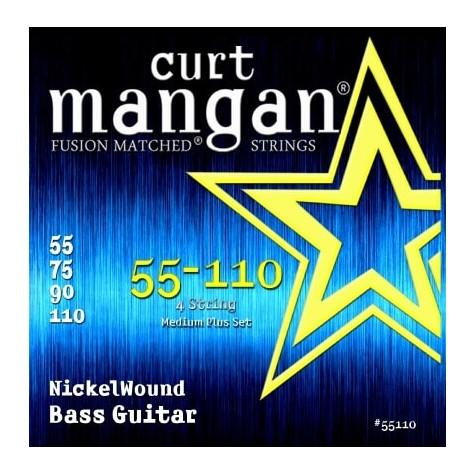 CURT MANGAN 55-110 NICKEL WOUND MEDIUM PLUS SET 55110