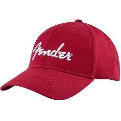 FENDER LOGO STRECH CAP RED