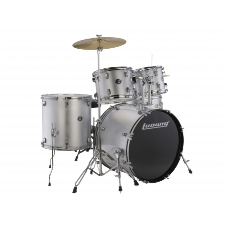 LUDWIG ACCENT FUSE 5PC SILVER + HARDWARE