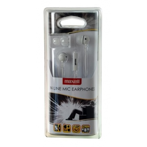 MAXELL EC-MIC EARPHONES WHITE
