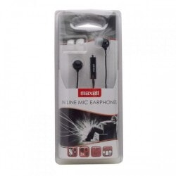 MAXELL EC-MIC EARPHONES BLACK