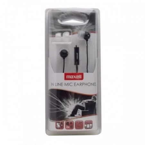 MAXELL EC-MIC EARPHONES BLACK