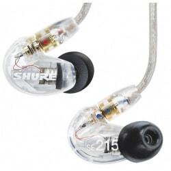 SHURE SE215-CL-E profesjonalne słuchawki douszne przezroczyste