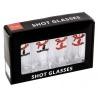 FENDER SHOT GLASSES S/4 4 BANNER HEAD - OUTLET