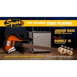 FENDER PACK JAGUAR BASS R15V3 BSB