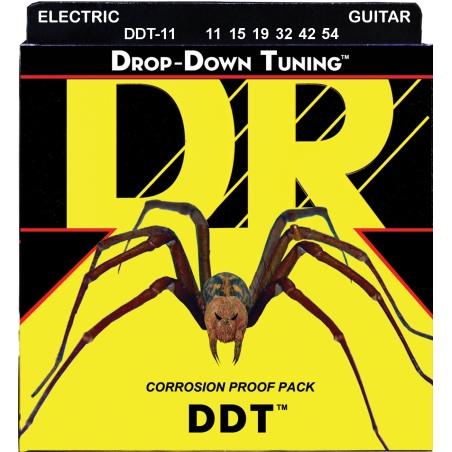 DR DDT 11-54 DROP-DOWN TUNING STRUNY GITARA ELEKTRYCZNA