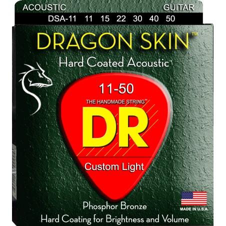 DR DSA 11-50 DRAGON SKIN STRUNY GITARA AKUSTYCZNA