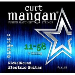 CURT MANGAN 11-58 Nickel Wound 7-String