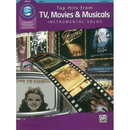 PWM. TOP HITS TV MOVIES & MUSICALS FLET+CD