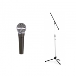 SHURE SM 58 LCE + STATYW...