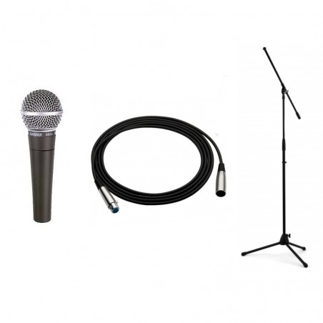 SHURE SM 58 LCE + STATYW + KABEL