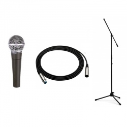 SHURE SM 58 LCE+STATYW+KABEL