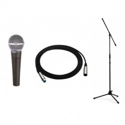 SHURE SM 58 LCE + STATYW +...