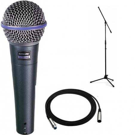 Shure Beta 58a Kabel Mikrofonowy 9m Statyw Zestaw