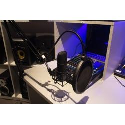 *zdjęcie poglądowe- koszyk i mikrofon w kolorze srebrnym