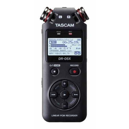 TASCAM DR-05X - Ręczny rejestrator stereo z interfejsem audio USB