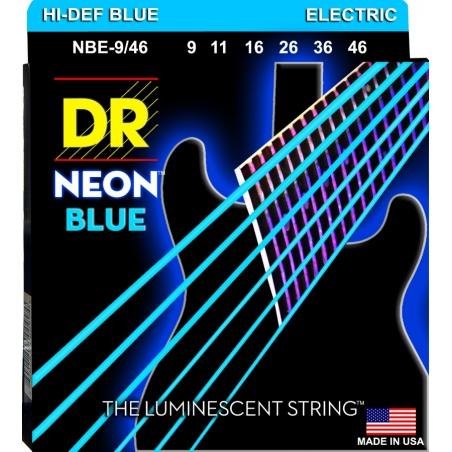 DR NBE 9-46 NEON BLUE STRUNY GITARA ELEKTRYCZNA
