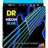 DR NBE 10-46 NEON BLUE STRUNY GITARA ELEKTRYCZNA