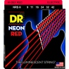 DR NRE 9-42 NEON RED STRUNY GITARA ELEKTRYCZNA