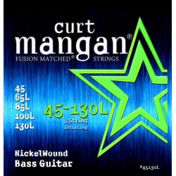 CURT MANGAN 45-130 Nickel Bass Extra Long Scale 5-Str