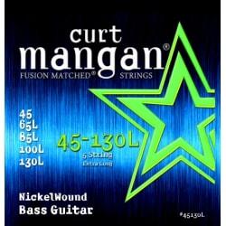 CURT MANGAN 45-130 Nickel Bass Extra Long Scale 5-Str