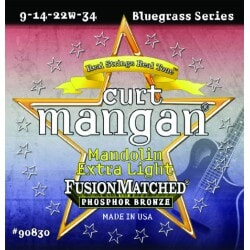 CURT MANGAN Mandolin Extra Light Set
